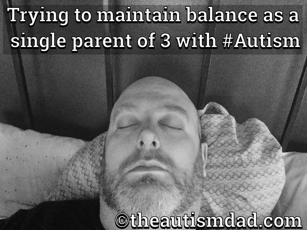 Trying to maintain balance as a single parent of 3 with #Autism