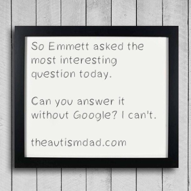 So Emmett asked the most interesting question today