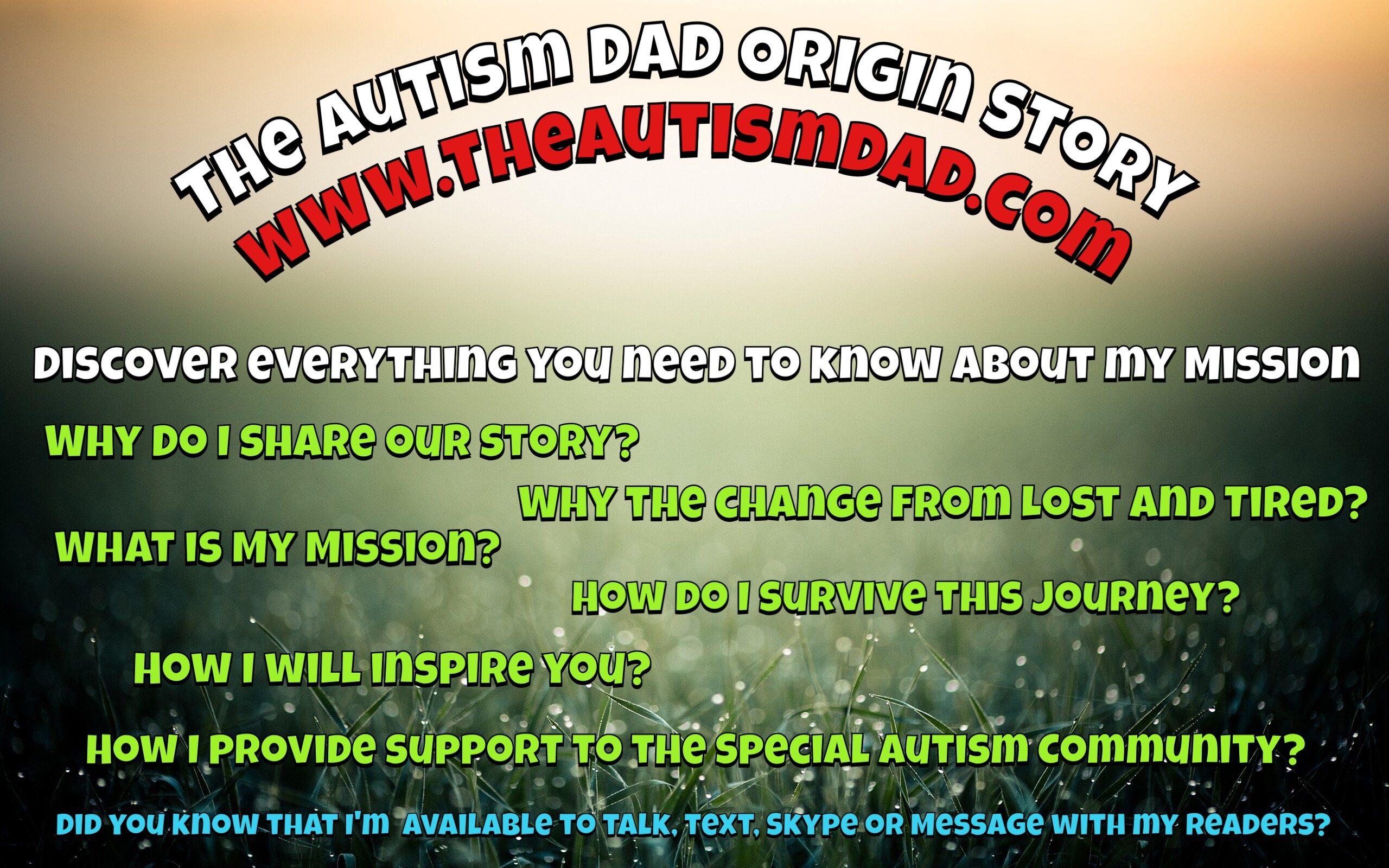 The Autism Dad Origin Story