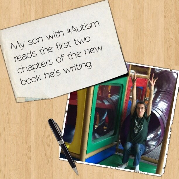My son with #Autism reads the first two chapters of the new book he's writing