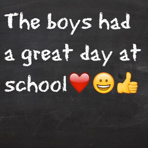 The boys had a great day at school