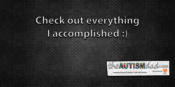 Check out everything I accomplished  :)