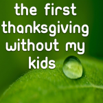 My first Thanksgiving without my kids