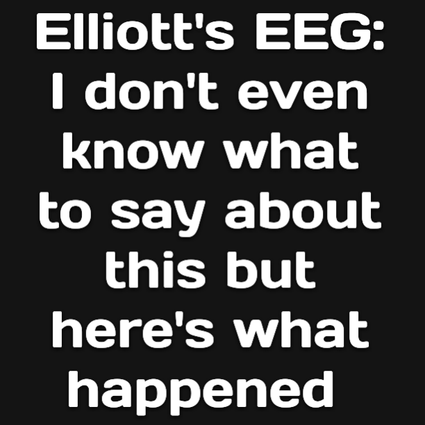 Elliott's EEG: I don't even know what to say about this but here's what happened