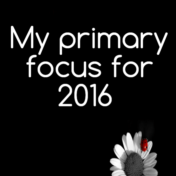 My primary focus for 2016