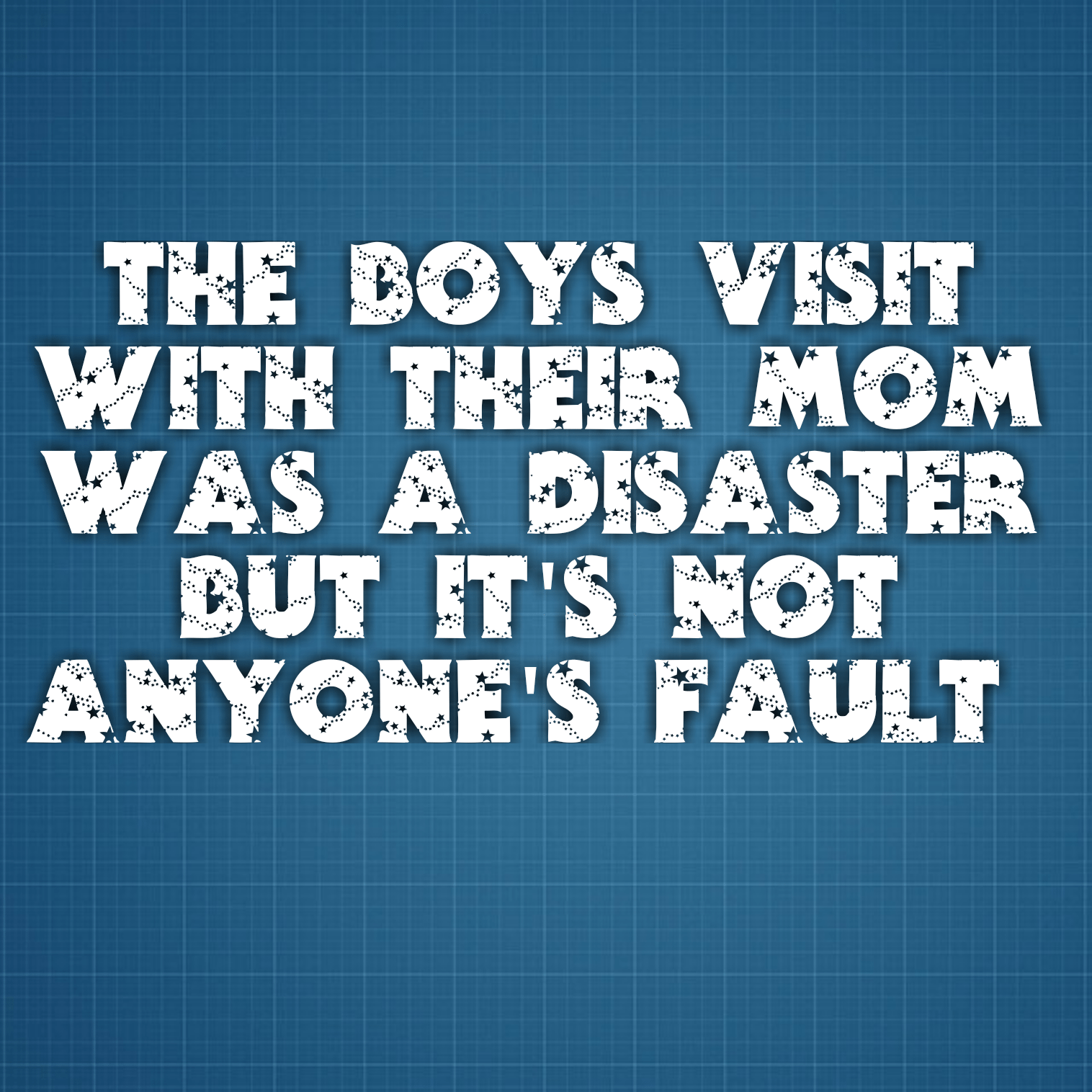 The boys visit with their Mom was a disaster but it's not anyone's fault