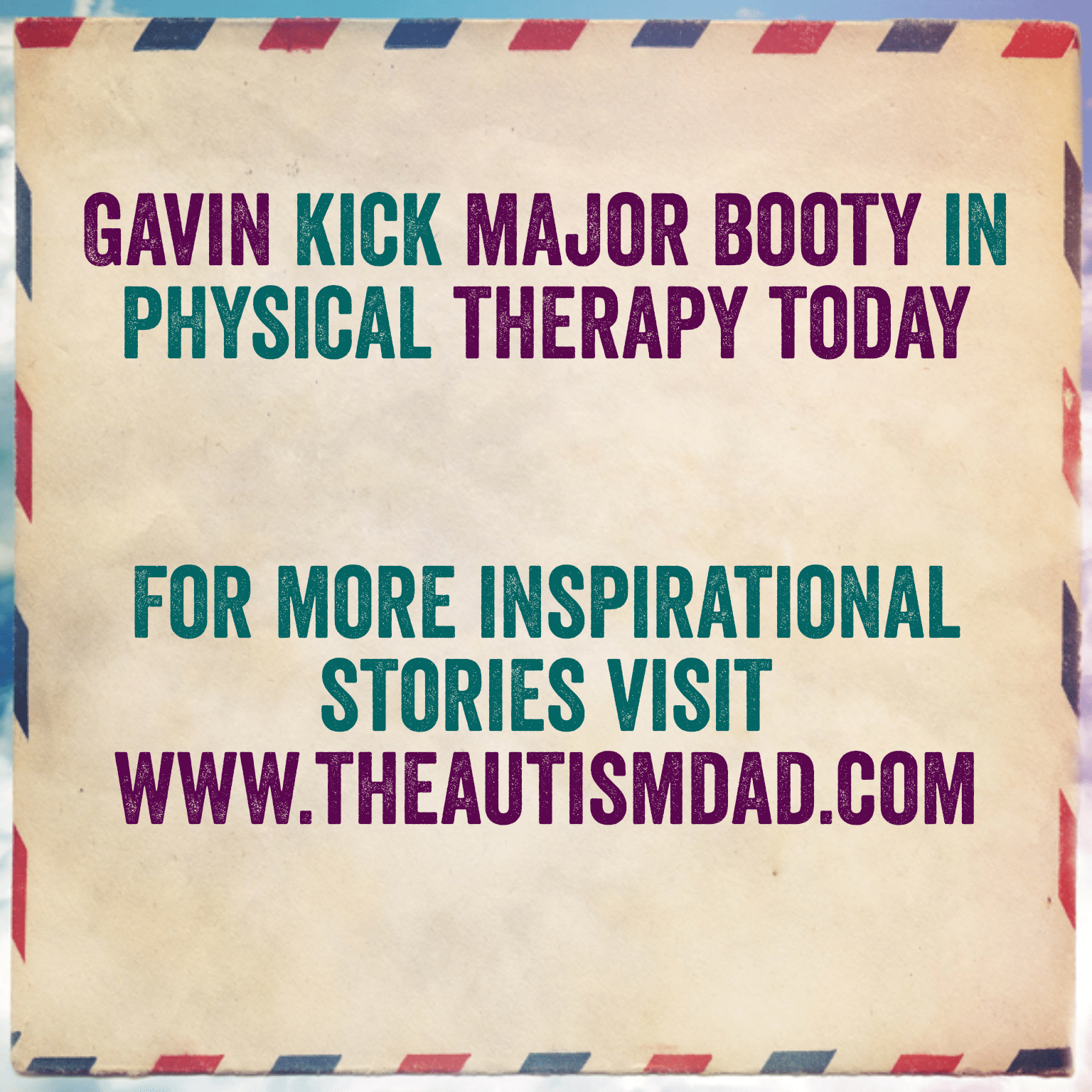 Gavin kick major booty in physical therapy today