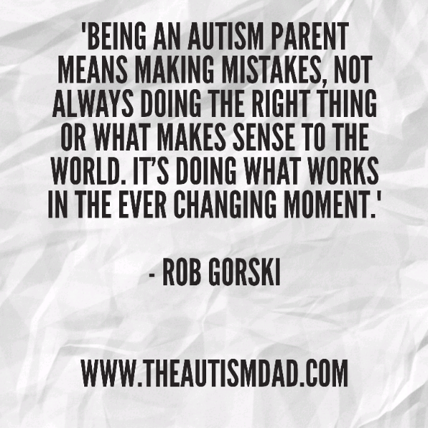 I'm crushed by my failures as an #Autism parent but I've found a new way to look at it