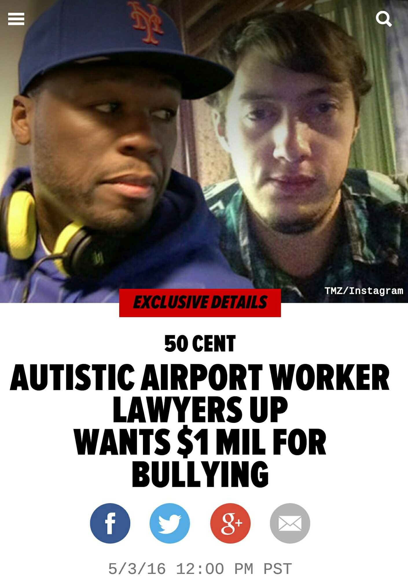 Is 50 Cent guilty of bullying a 19 year old kid with #Autism?