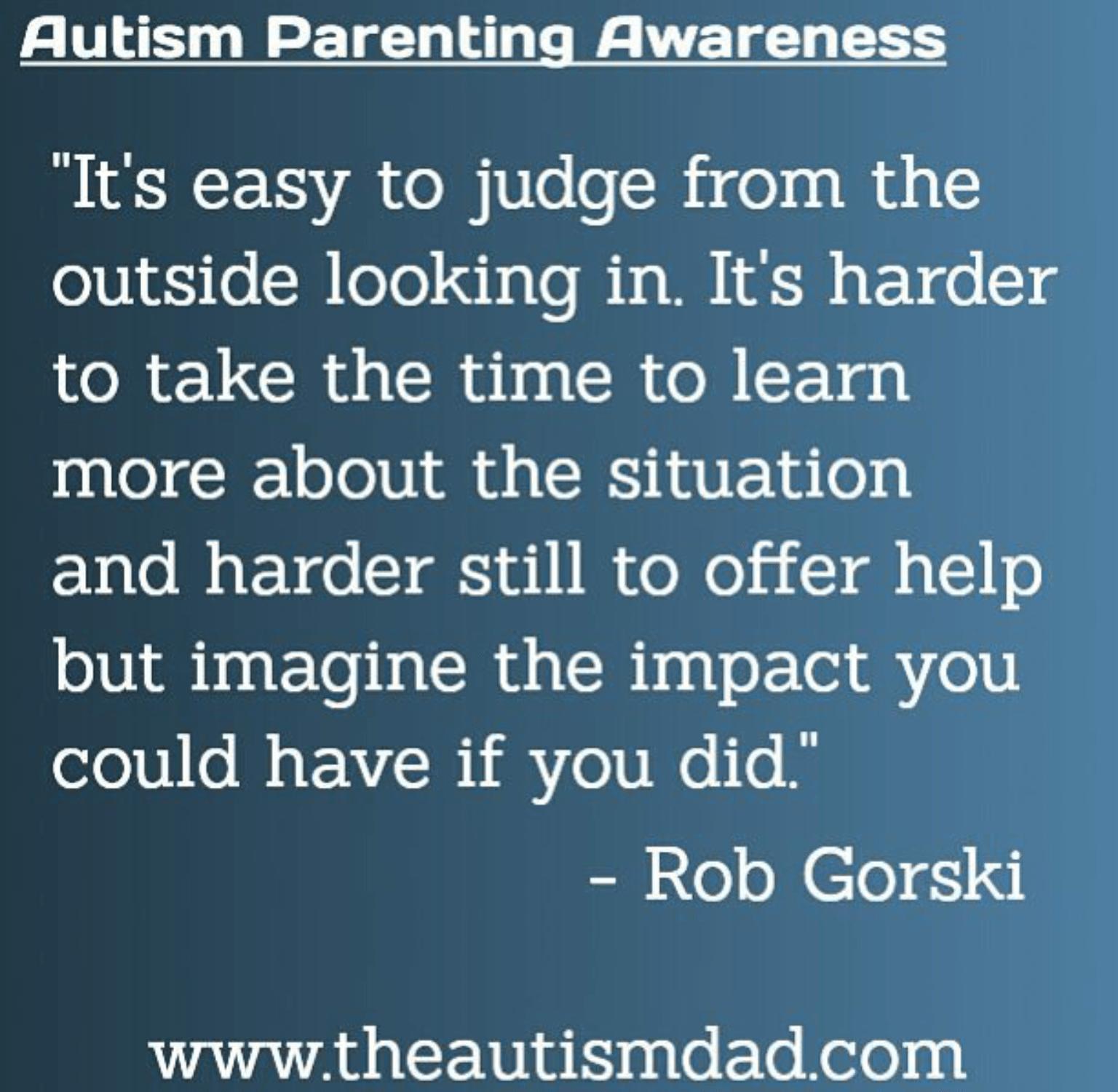 A positive message about #Autism Parenting