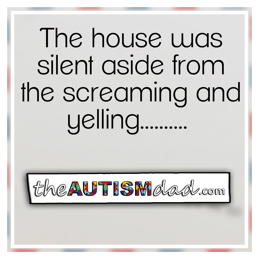The house was silent aside from the screaming and yelling……….