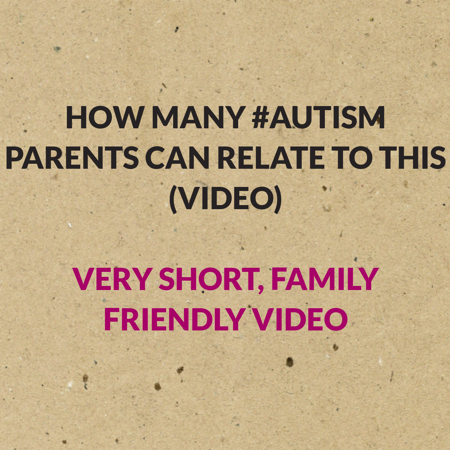 How many #Autism Parents can relate to this (video)