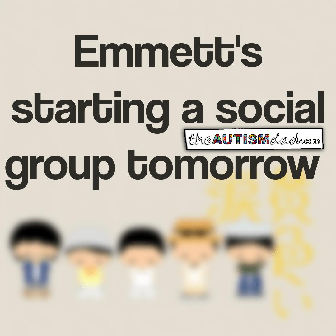 Emmett's starting a social group tomorrow