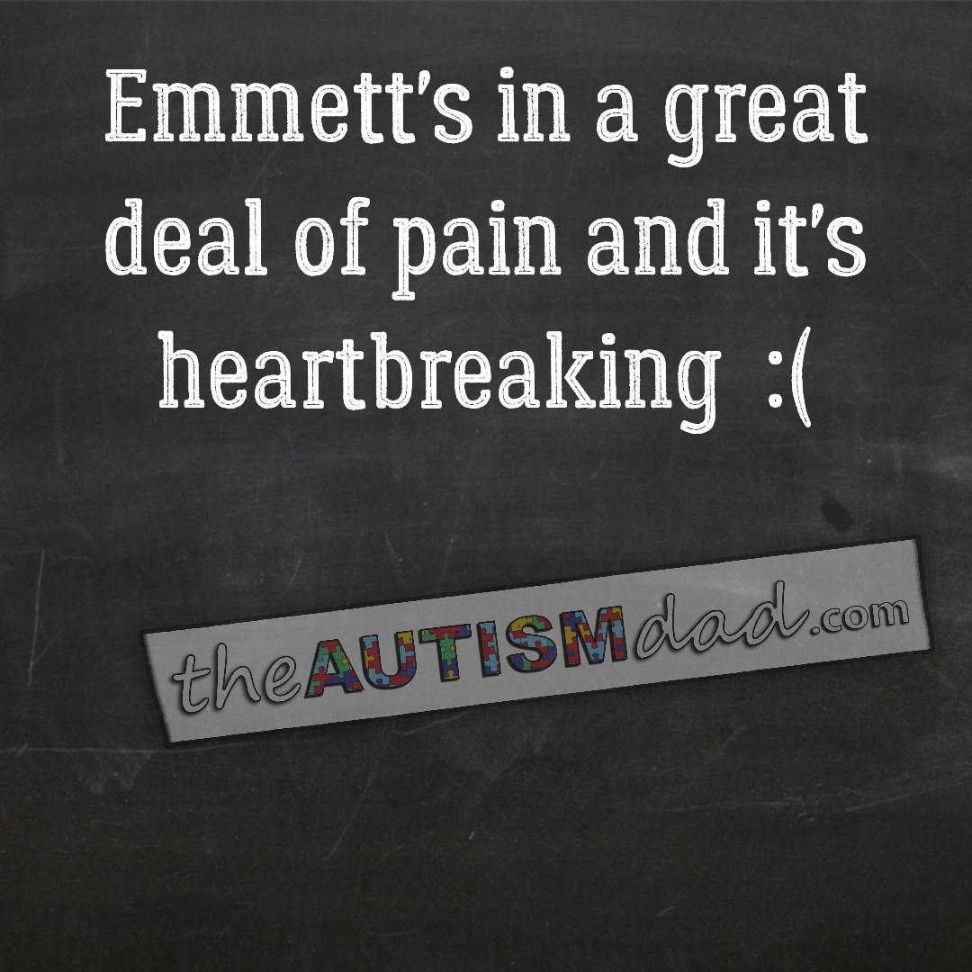 Emmett's in a great deal of pain and it's heartbreaking :(