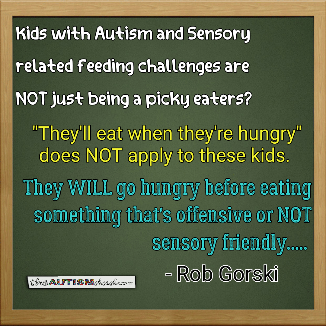 An important FACT about #Autism and #Sensory related feeding challenges