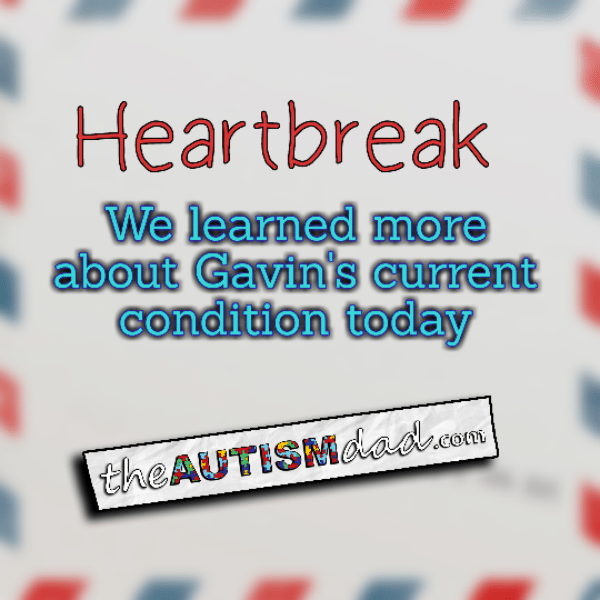 Heartbreak: We learned more about Gavin's condition today