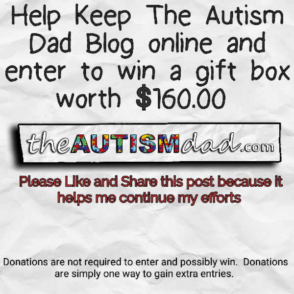 Help Keep The Autism Dad Blog online and enter to win a gift box worth $160.00