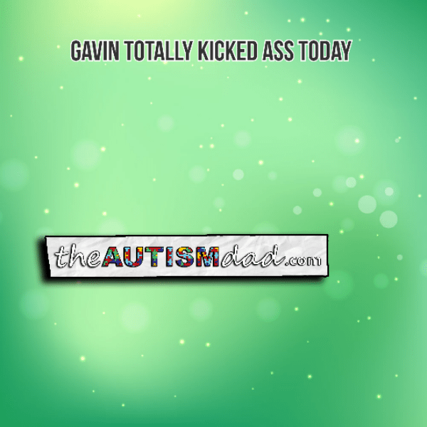 Gavin totally kicked ass today