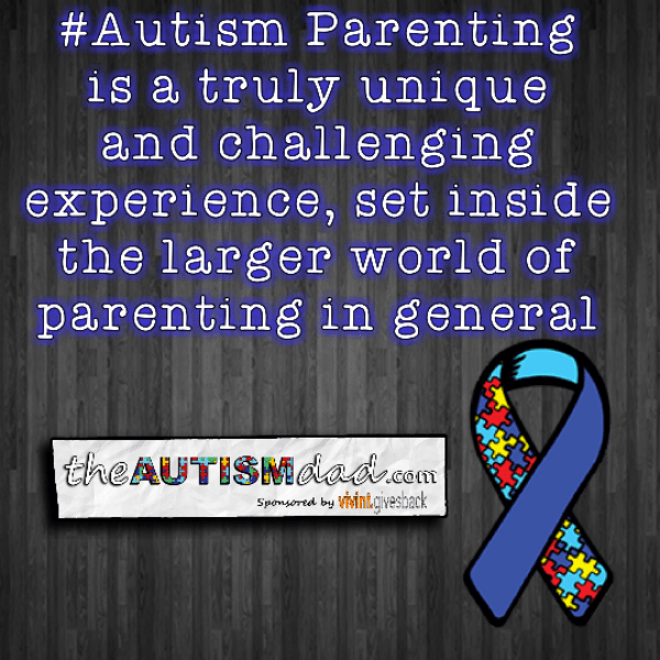 #Autism Parenting is a truly unique and challenging experience, set inside the larger world of parenting in general