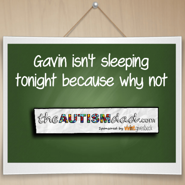 Gavin isn't sleeping tonight because why not