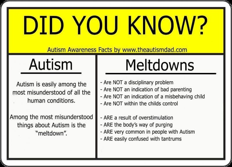 The Did You Knows of #Autism: Meltdowns