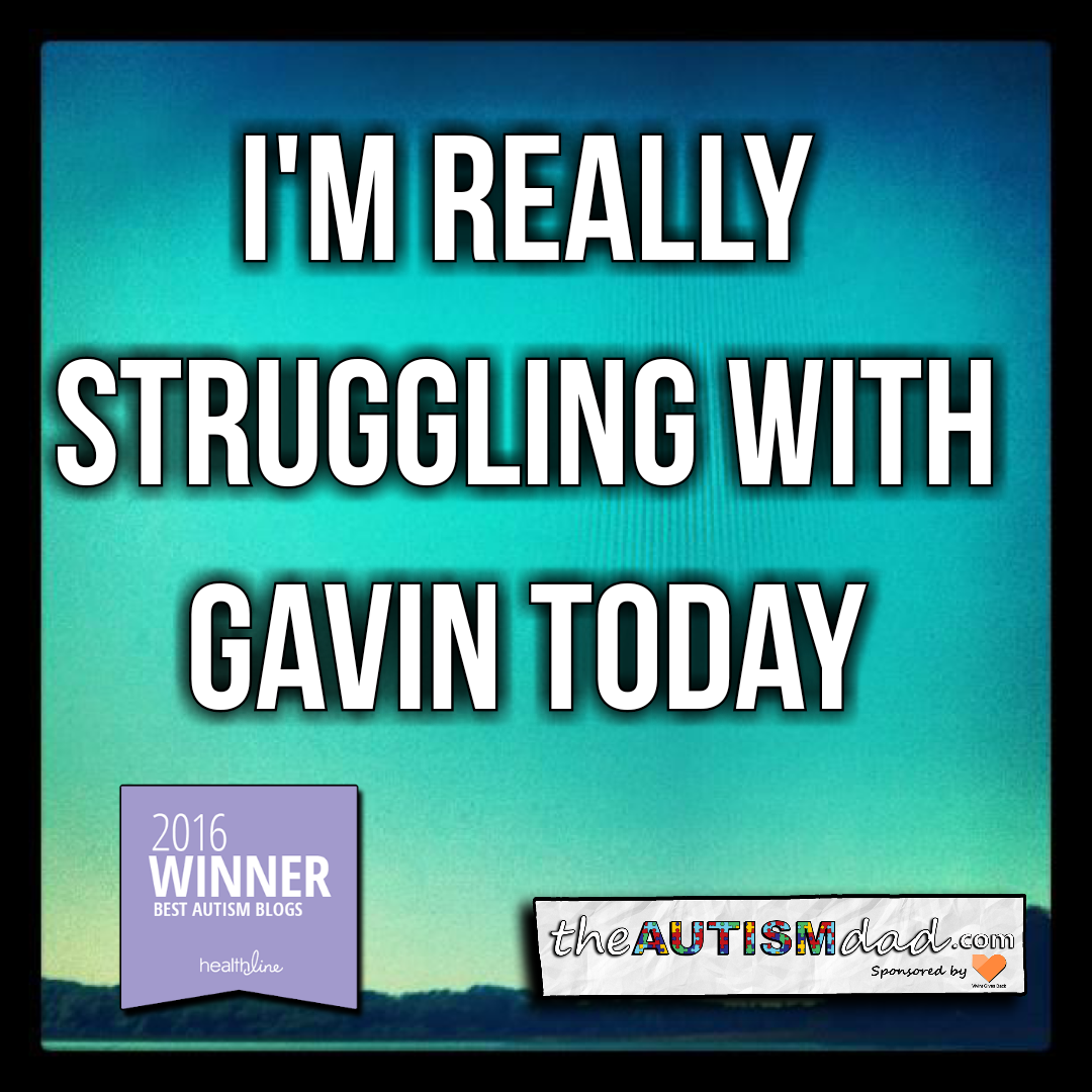 I'm really struggling with Gavin today