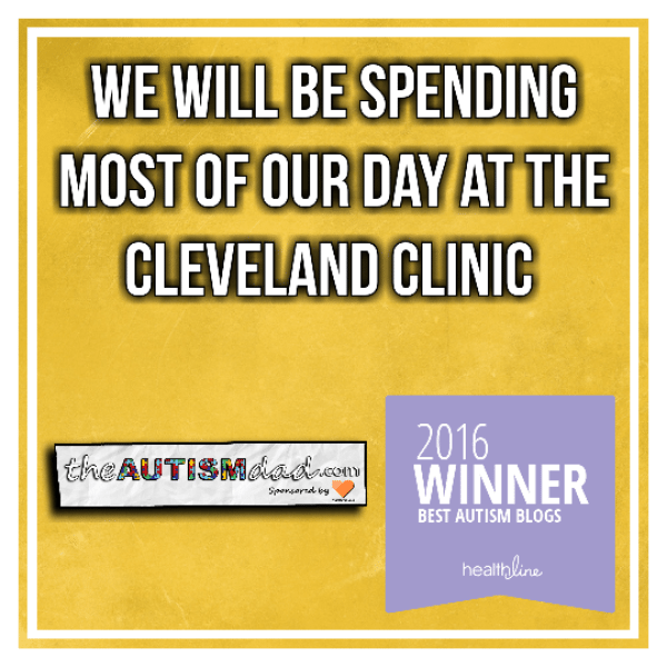 We will be spending most of our day at the @ClevelandClinic
