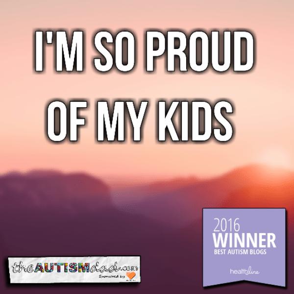 I'm so proud of my kids