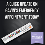 A quick update on Gavin's emergency appointment today