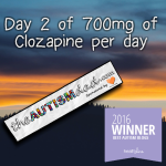 Day 2 of 700mg of Clozapine
