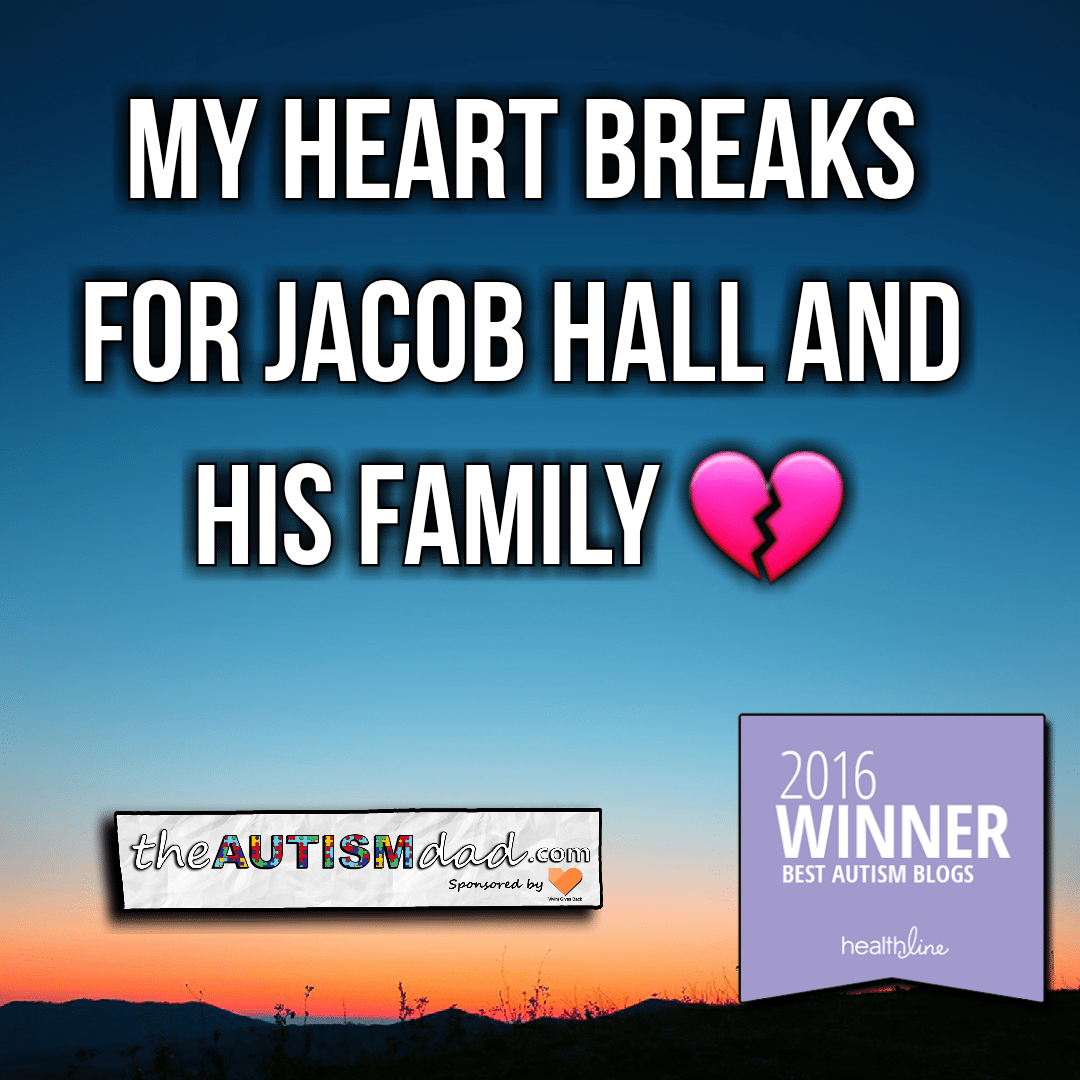 My heart breaks for Jacob Hall and his family