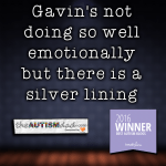 Gavin's not doing so well emotionally but there is a silver lining