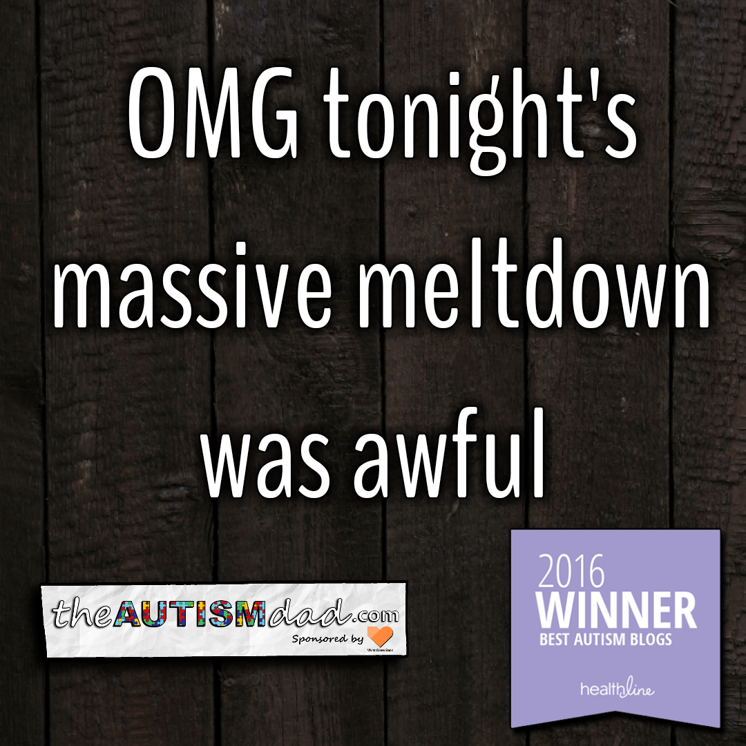 OMG tonight's massive meltdown was awful