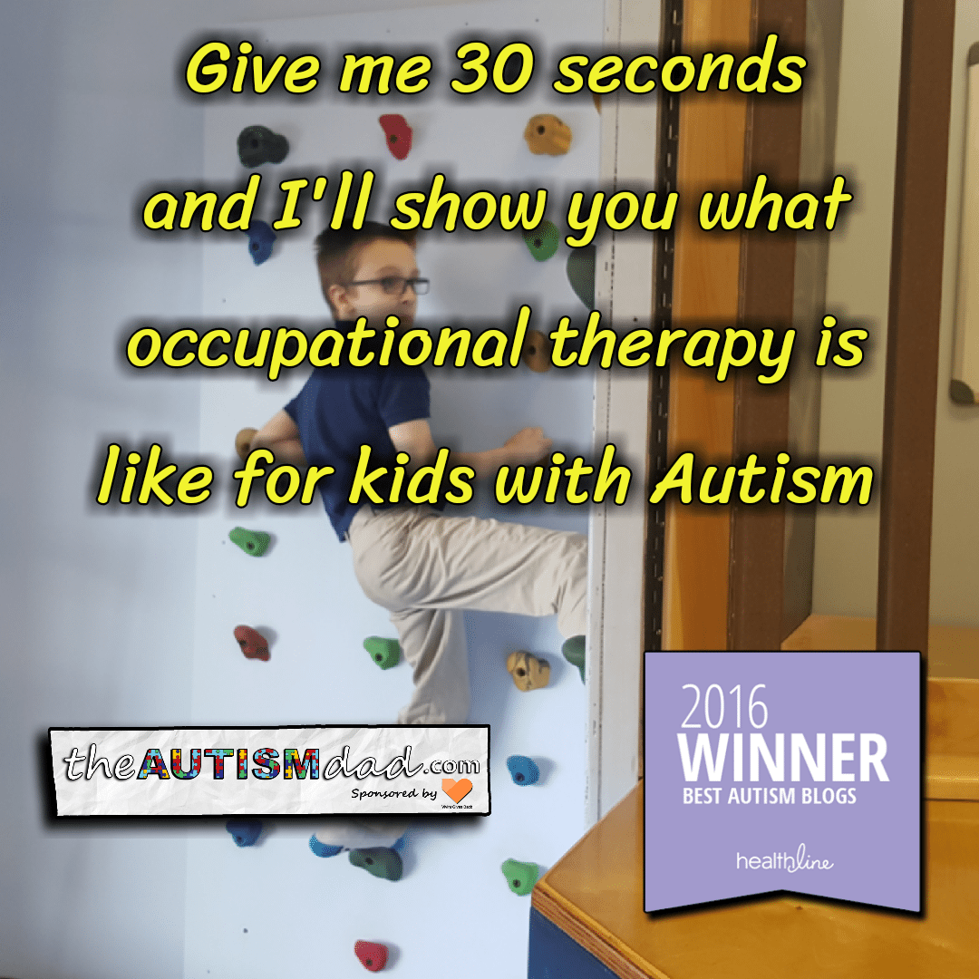 Give me 30 seconds and I'll show you what occupational therapy is like for kids with #Autism