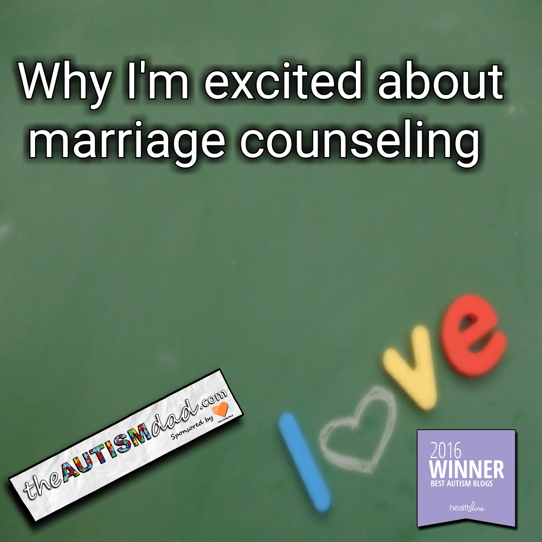 Why I'm excited about marriage counseling