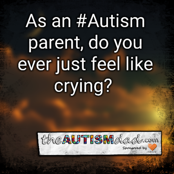 As an #Autism parent, do you ever just feel like crying?