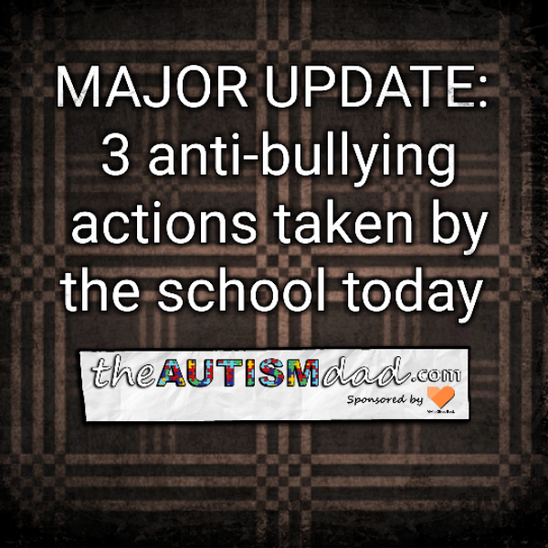 MAJOR UPDATE: 3 anti-bullying actions taken by the school today