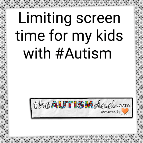 Limiting screen time for my kids with #Autism