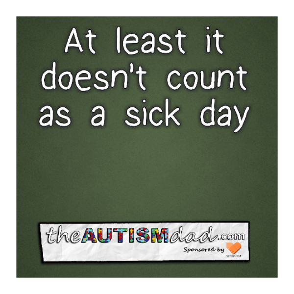 At least it doesn't count as a sick day