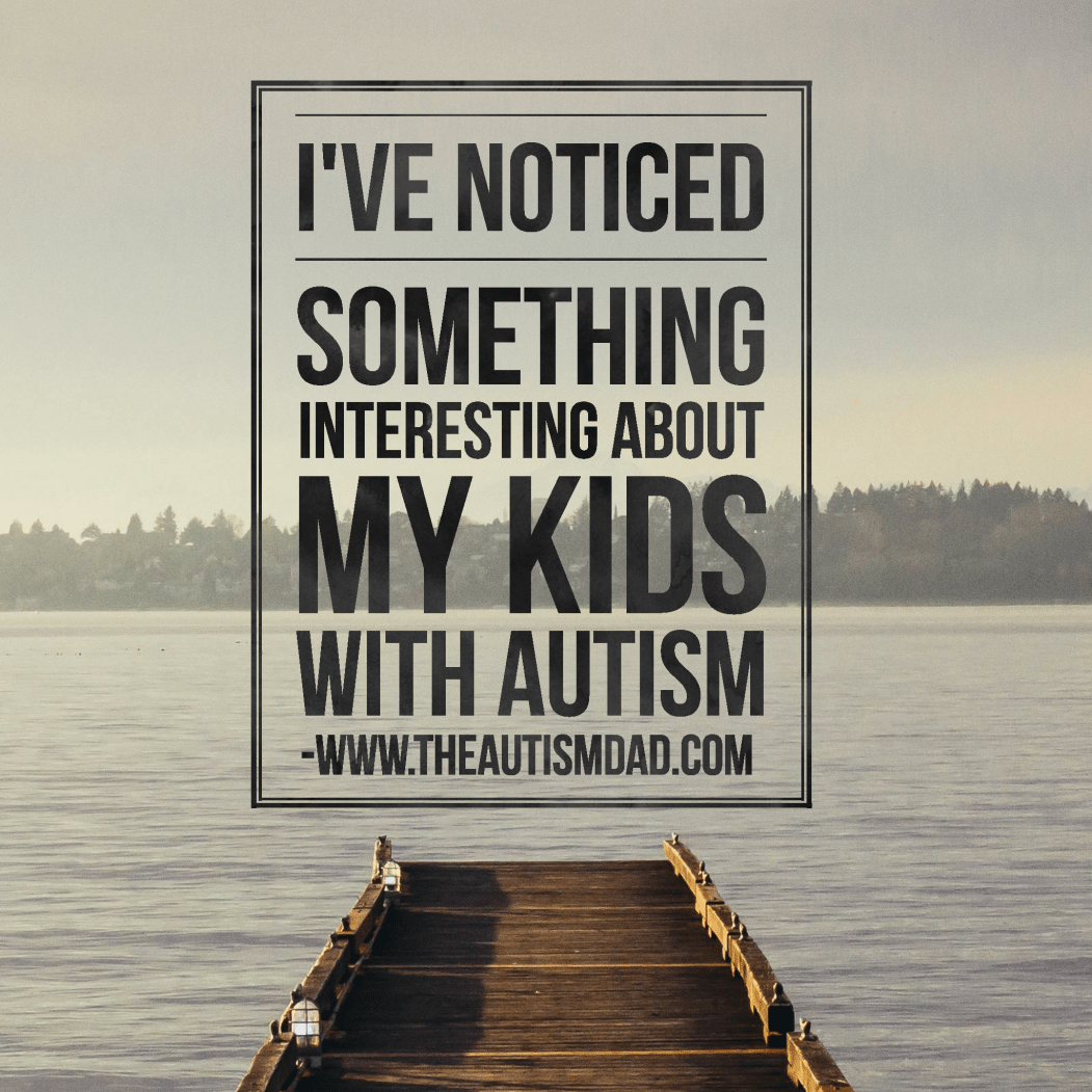 I've noticed something interesting about my kids with #Autism