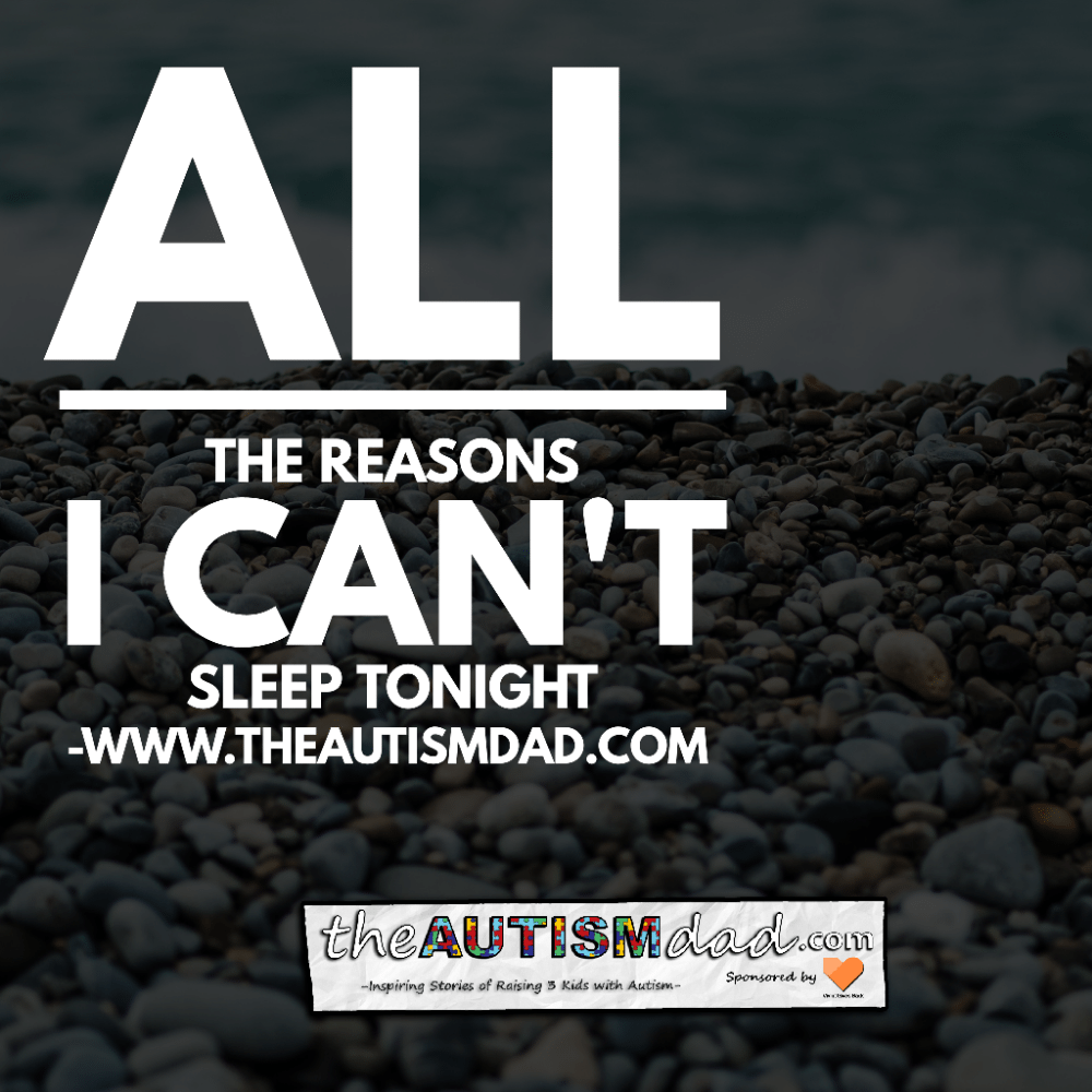 All the reasons I can't sleep tonight