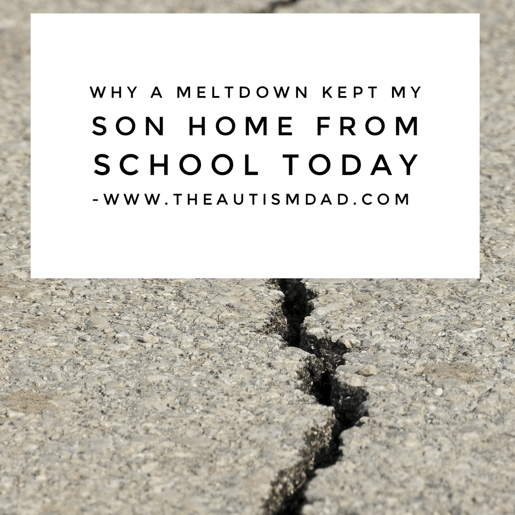 Why a #meltdown kept my son home from school today