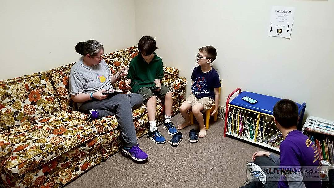 Tuesday is family therapy night for this #Autism family