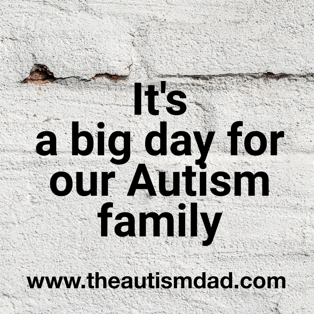 It's a really big day for our #Autism family