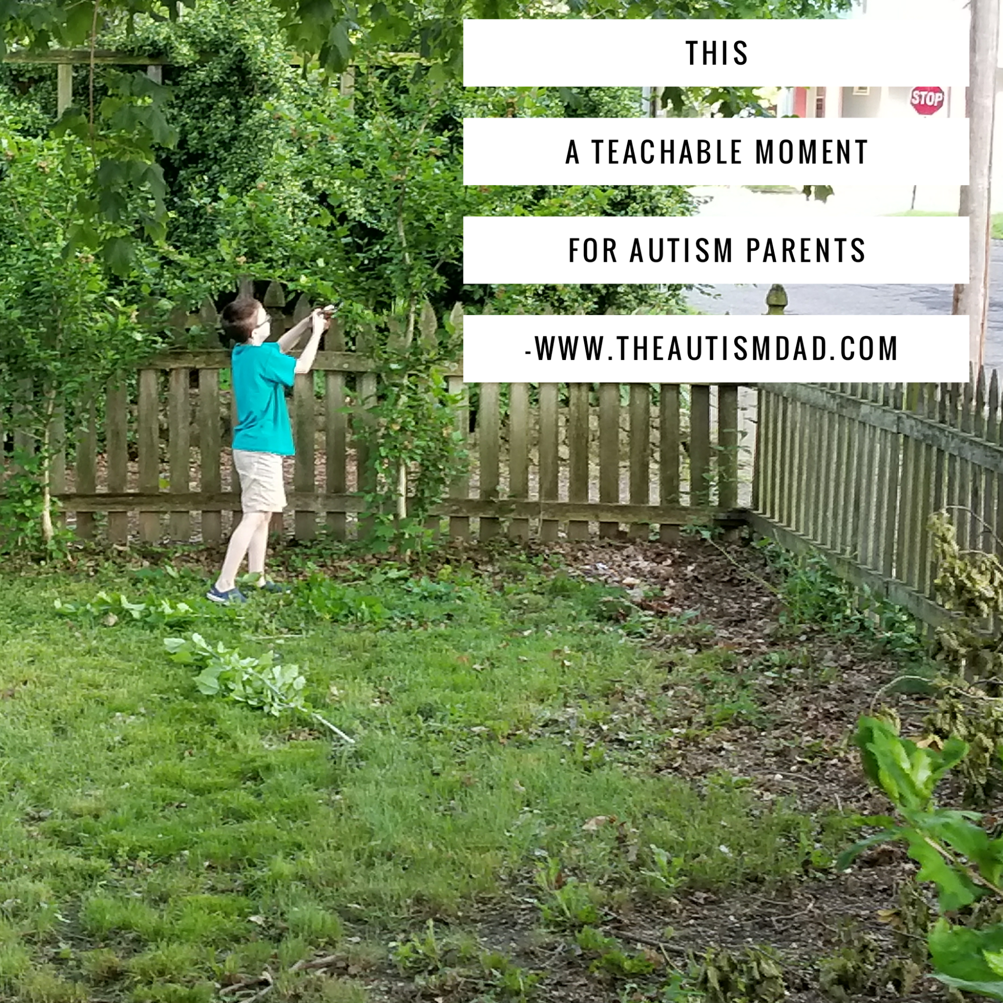 This a teachable moment for #Autism parents