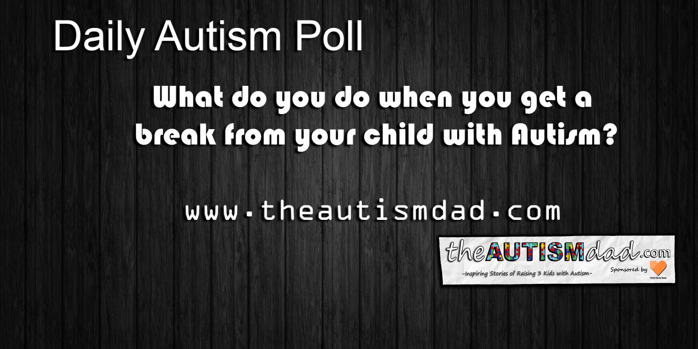 (Poll) What do you do when you get a break from your child with #Autism?