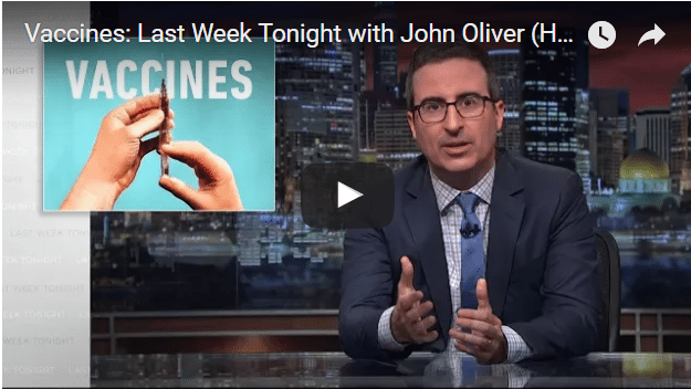 Watch John Oliver's powerful and informative advice on #vaccines