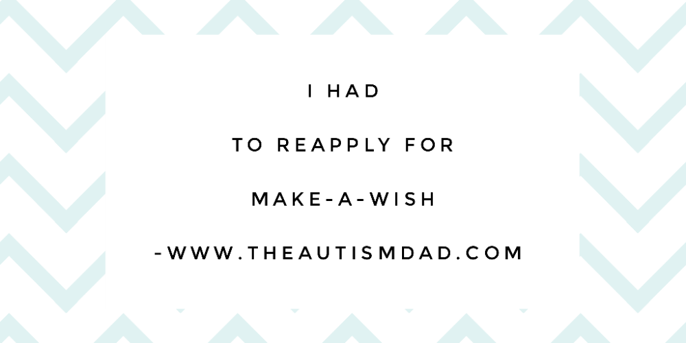 I had to reapply for @makeawish