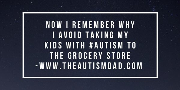 I remember why I don't take all 3 of my kids with #Autism shopping at once