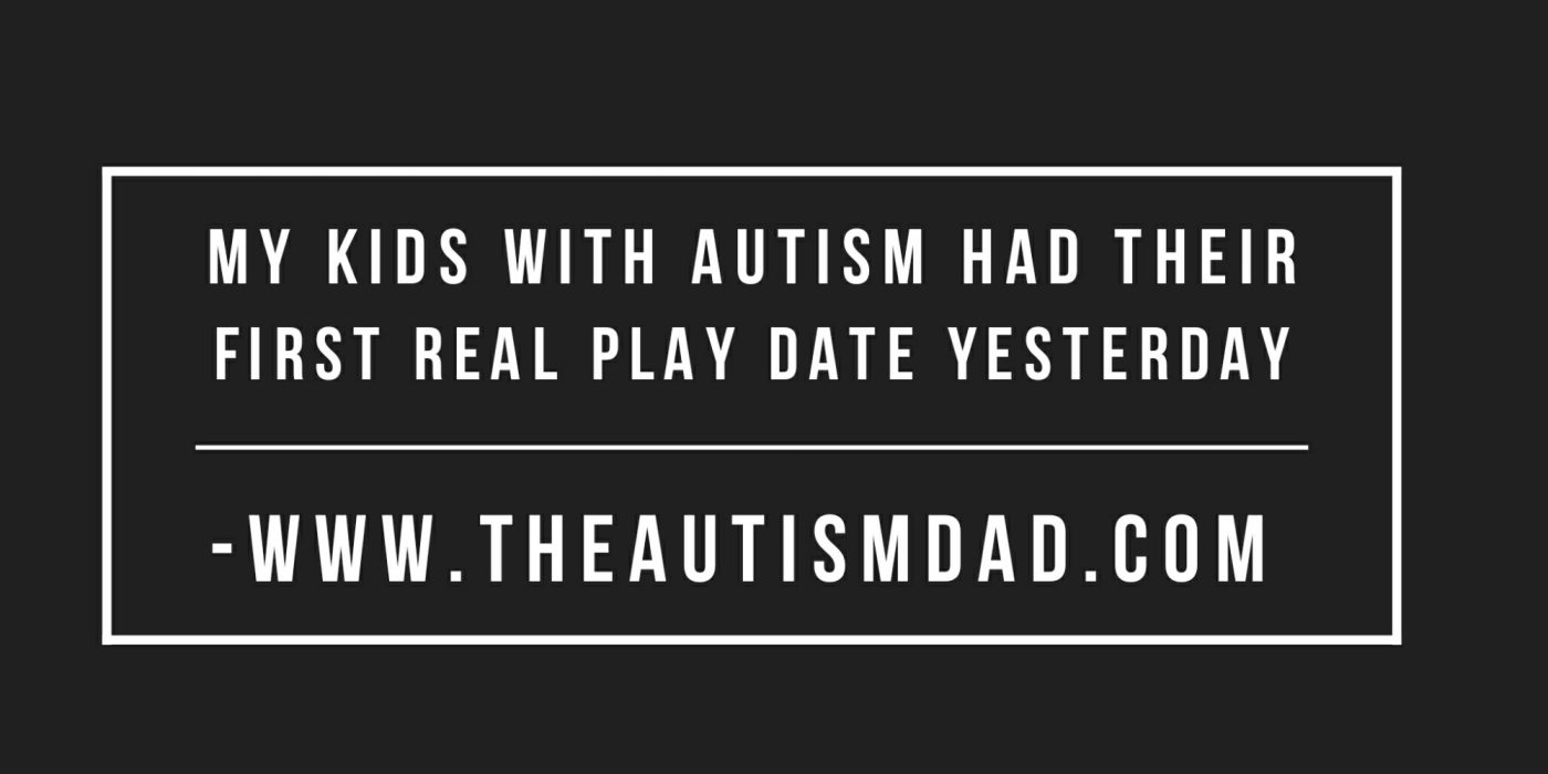 My kids with #Autism had their first real play date yesterday